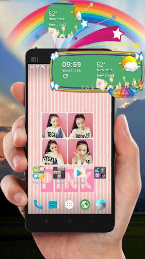 Rainbow Weather Widget Screenshot