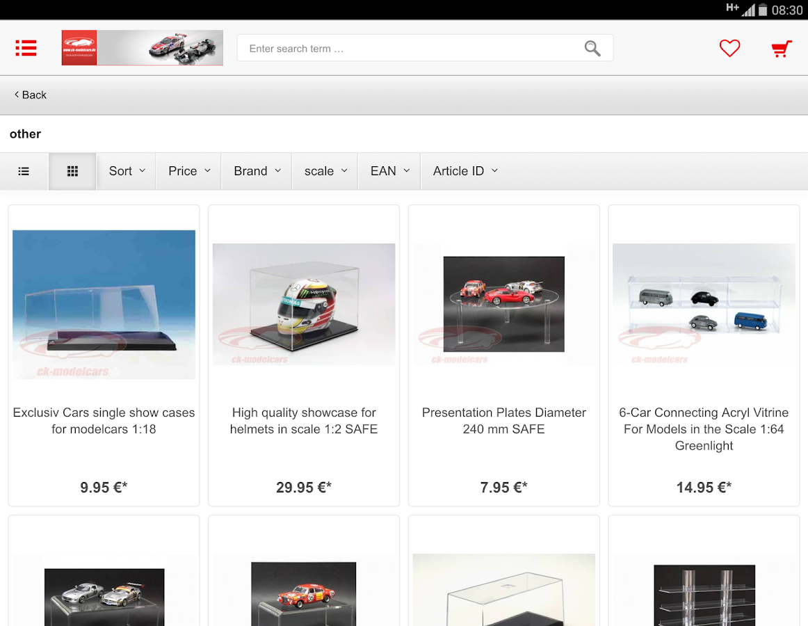 ck-modelcars-UK Shop- screenshot