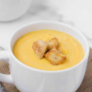 Butternut Squash Soup with Cinnamon Sugar Croutons