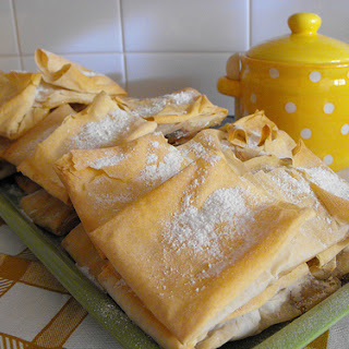 Filo Dough Pastry with Sweet Egg Cream and Cinnamon.