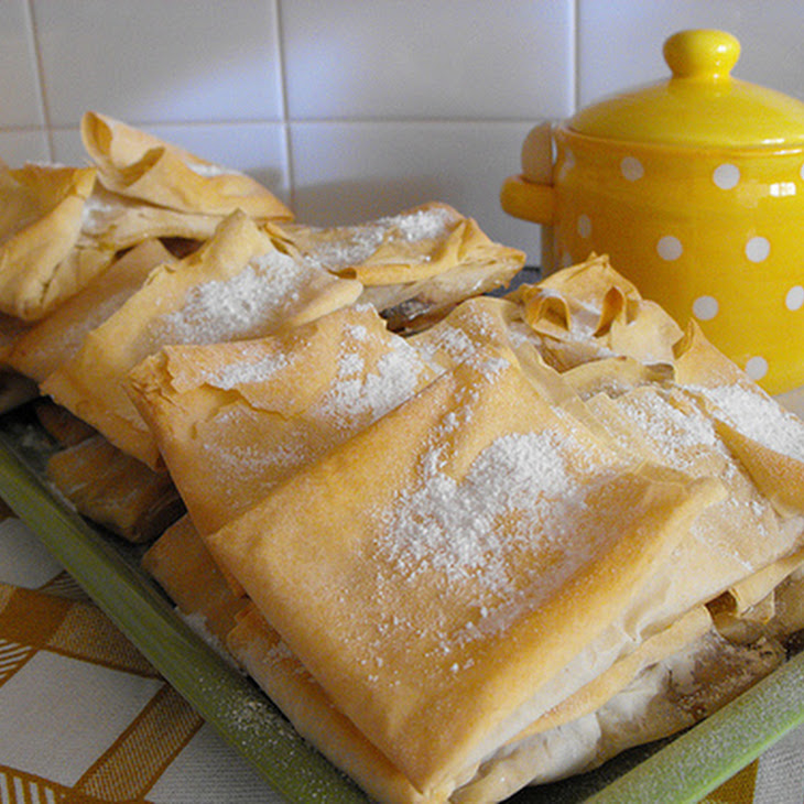 Filo Dough Pastry with Sweet Egg Cream and Cinnamon Recipe