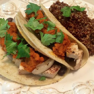 Chipotle Pumpkin and Chicken Tacos