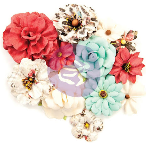 Prima Midnight Garden Mulberry Paper Flowers 12/Pkg - Elemental Beauty UTGÅENDE