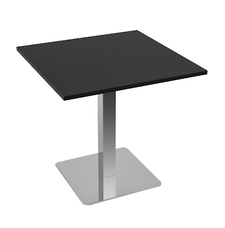 Cafébord 1000x1000 svart