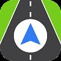 Driving: Sat nav & Traffic icon