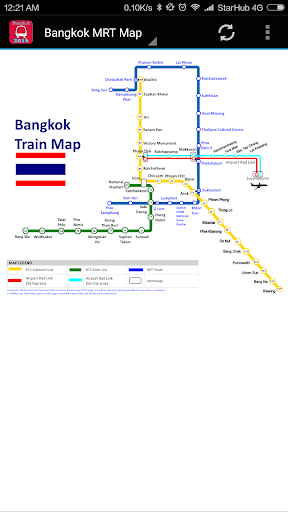 Thailand Bangkok BTS MRT Rail MAP 2020 (New) ss2