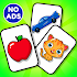 Flashcards Toddler Games for 2 and 3 Year Olds👦👧