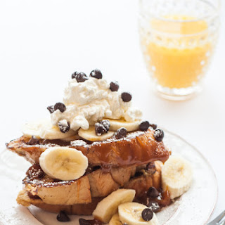 Banana French Toast with Caramel Sauce