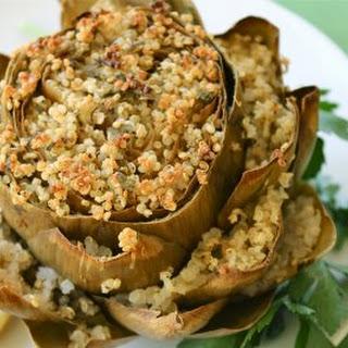 Quinoa and Herb Stuffed Artichokes