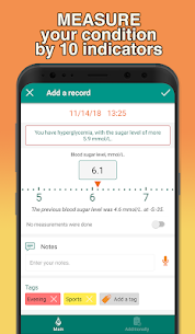 Glucose tracker & Diabetic diary. Your blood sugar 3.2.6 Unlocked MOD APK Android 3