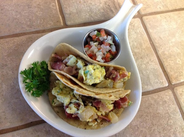 Top with pico de gallo or your favorite salsa. OPTIONAL:  You could add cheese...