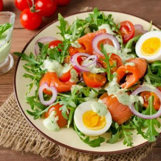 Salad Of Salmon And Vegetables