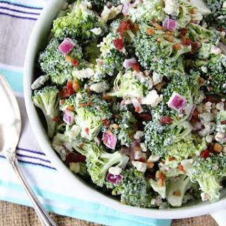 Bacon and Blue Broccoli Salad.