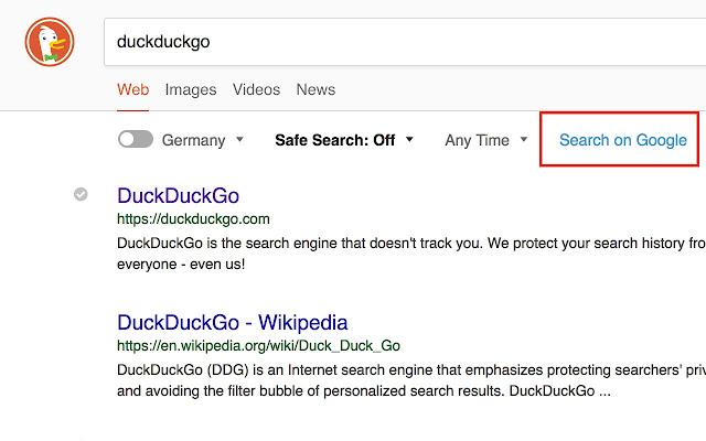DuckDuckGo: Search on Google