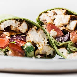 Mediterranean Chicken Wrap.
