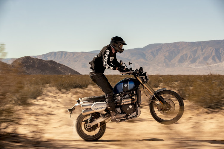 The Triumph Scrambler 1200 is a retro-styled dual-purpose bike for on- and off-road use. Picture: SUPPLIED