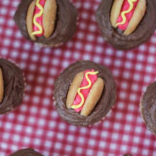 Mini Hot Dog Cupcakes.