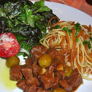 Italian Lamb and Olive Pasta