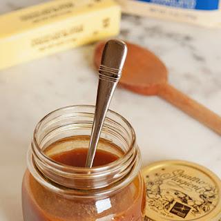 Homemade Caramel Sauce.