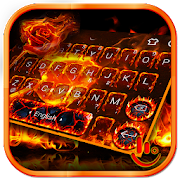 Flaming Flower Keyboard Theme