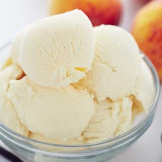 Homemade Peach Ice Cream.