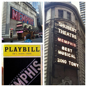 Time for Memphis. #broadway #musical #memphis #rock #nyc #theater by Alex Santos - Instagram & Mobile Instagram