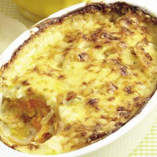 Potato and Sweet Potato Casserole.