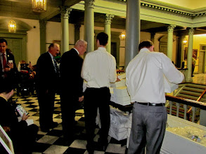 Photo: Everyone enjoyed lunch! Senators, Representatives, Legislative Aides and advocates had lunch together during Disability Day at Legislative Hall on 3.25.15.