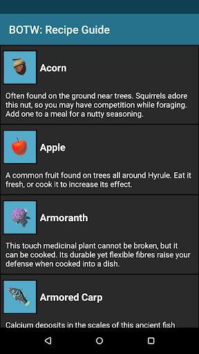Screenshot for BOTW: Recipes Donators Edition in Hong Kong Play Store