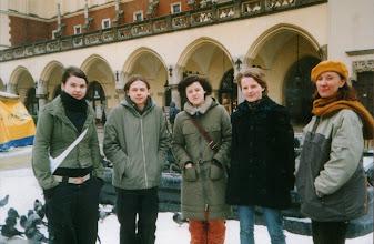 Photo: Kraków, 12.2003 r. wyjazd na sesję MCK, K.Kasperowicz, M.Wojtoń, M.Kriger, A.Jajeśnica, prof. B.Szota-Rekieć