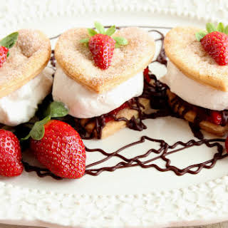 Deconstructed Strawberry Pie with Cinnamon Whipped Cream.
