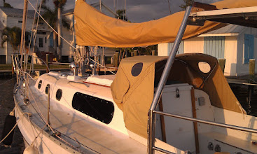 Photo: port side aft view of completed cabin trunk paint