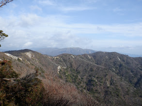 三池岳までの稜線