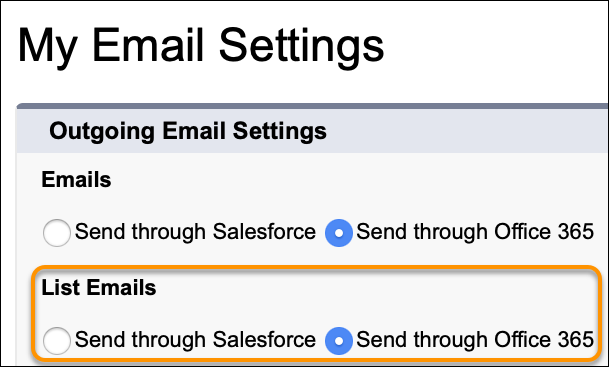 Send through Office 365