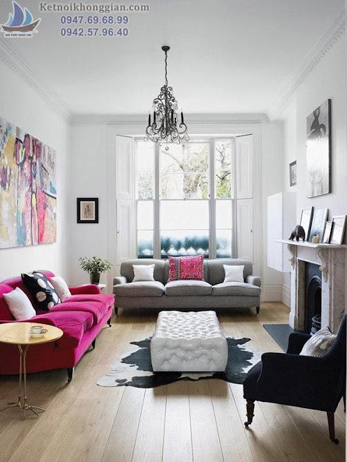 thiết kế phòng khách kết hợp tốt