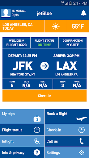 JetBlue Screenshot