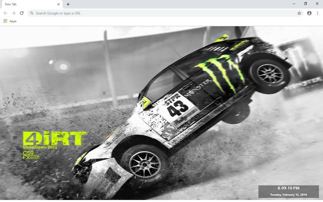 Dirt 4 New Tab & Wallpapers Collection