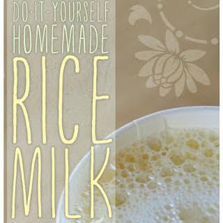Homemade Rice Milk.