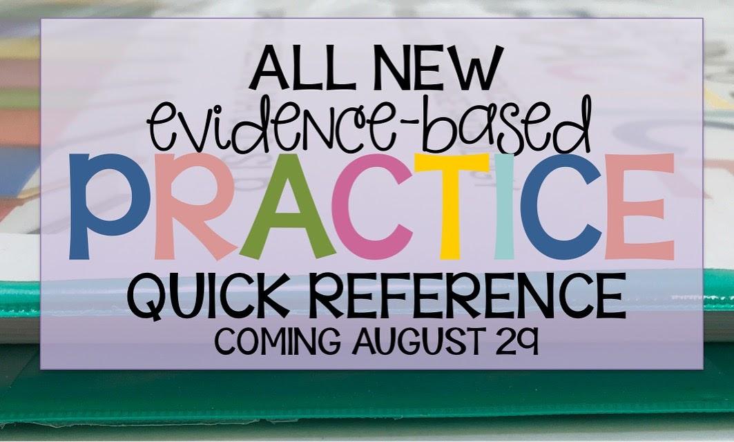 https://www.teacherspayteachers.com/Product/Evidence-Based-Practice-Quick-Reference-Speech-Language-Pathology-806606