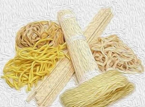 While the veggies are simmering, pour boiling water over the Chinese noodles to loosen...
