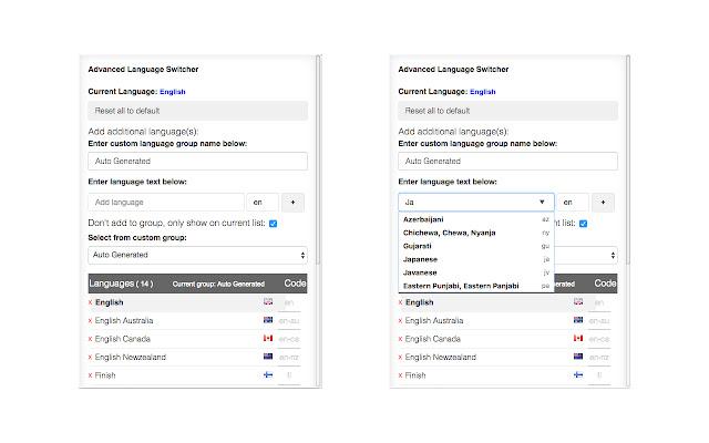 Advanced Page Language Switcher