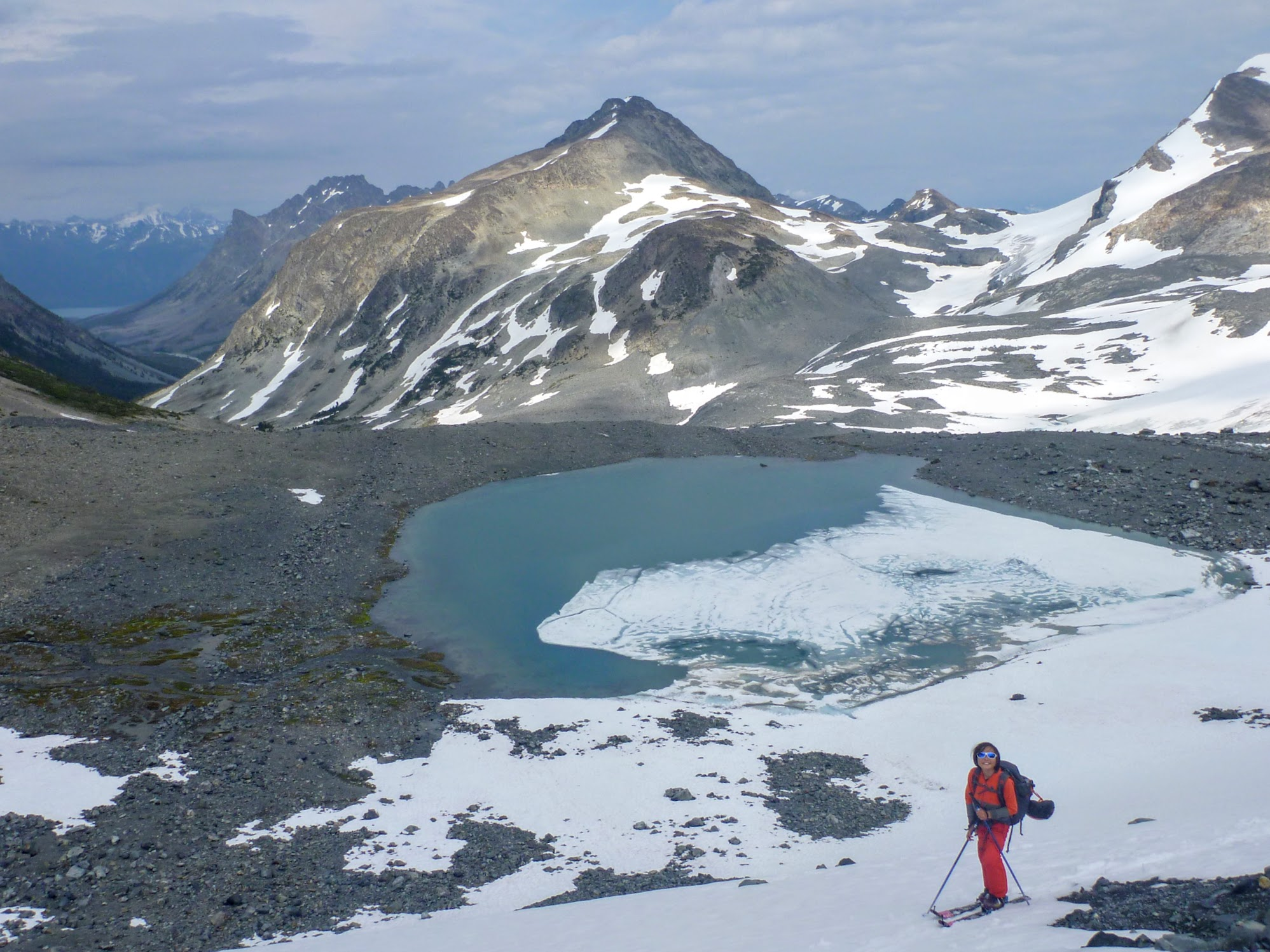 Nearing the top of the morraine ridge that the topo missed. A different part of Chilko Lake is visible down the valley.