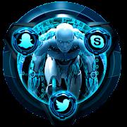 Blue Tech Robot Theme APK
