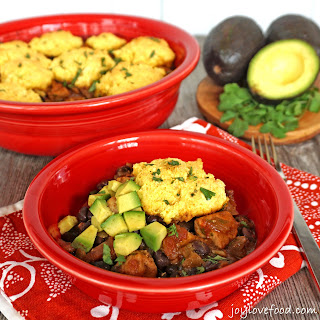 Tex Mex Chicken Casserole with Cornbread Topping + Homemade Cornbread Mix