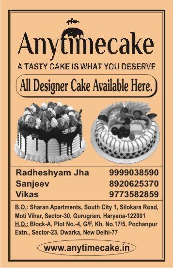 Anytime Cake menu 2