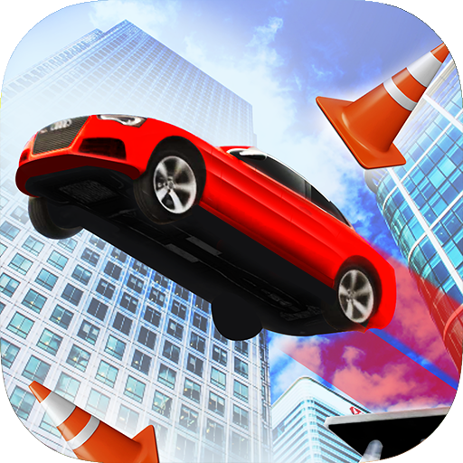 car stunt city roof jumping 3d