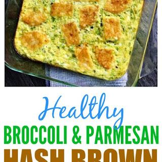 Broccoli & Parmesan Hash Brown Bake.
