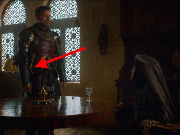 Olenna pointed out that Jaime has Joffrey's old sword — which happens to be Valyrian steel, forged from the remains of Ned Stark's sword.