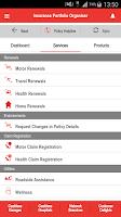 Screenshot of HDFC ERGO Insurance Portfolio
