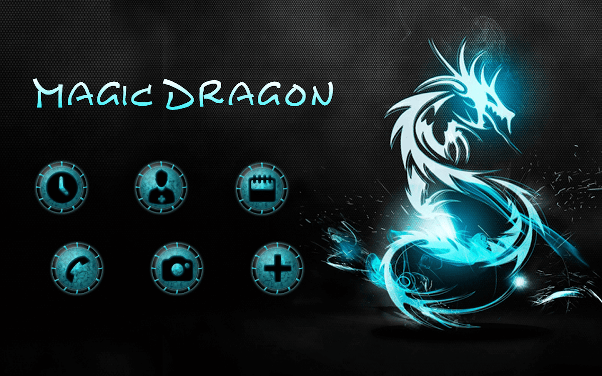 Magical theme: Abstract Dragon with Dark Cool Icon